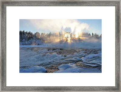Storforsen, Biggest Waterfall In Sweden Framed Print by Tamara Sushko