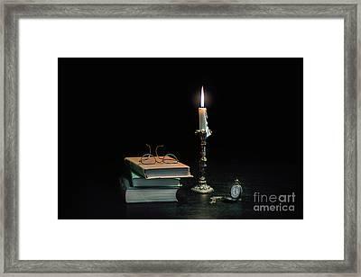 Stories In The Dark Framed Print by Evelina Kremsdorf