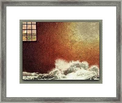 Storm Against The Walls Framed Print