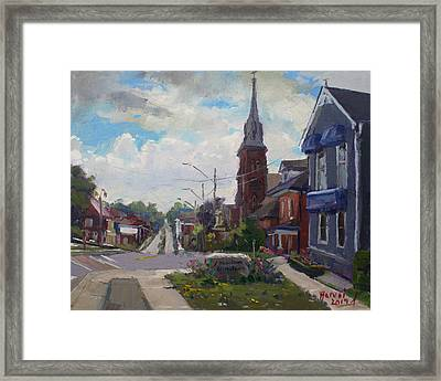 Storm Approach Over Downtown Georgetown Framed Print