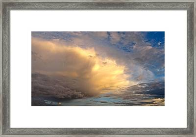 Framed Print featuring the photograph Storm Approach by Sean Griffin