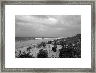 Storm Approaching - Jersey Shore Framed Print by Angie Tirado