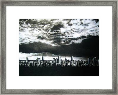 'storm Approaching' Framed Print by Lizelle Engelbrecht