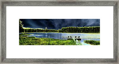 Framed Print featuring the photograph Storm Approaching The Pond by David Patterson