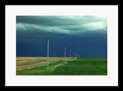 Weather Warning Framed Prints