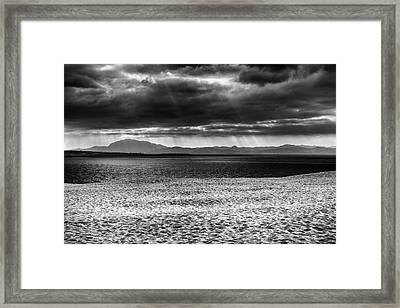 Storm At African Mountains Framed Print