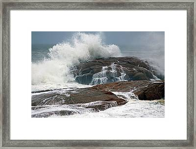 Storm At Hazard Rock Framed Print by Jim Beckwith