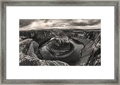 Storm At Horseshoe Bend Framed Print