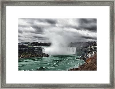 Storm At Niagara Framed Print