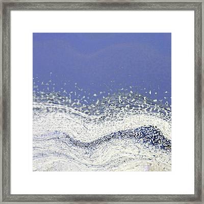 Storm At Sea Framed Print by Bonnie Bruno