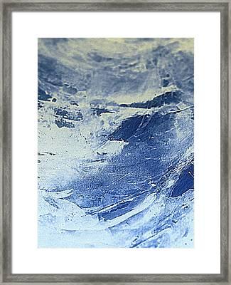 Storm At Sea Framed Print by Nancy Kane Chapman