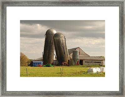 Storm At The Farm Framed Print
