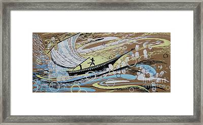 Storm At The Sea Framed Print