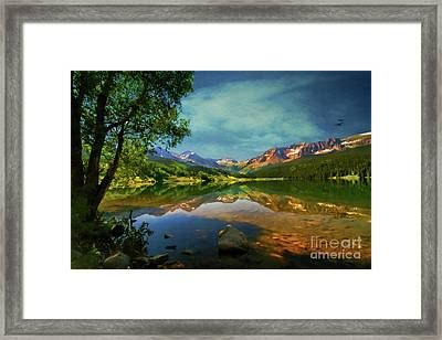 Storm At Trout Lake Framed Print