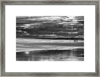 Framed Print featuring the photograph Storm Beach by Adrian Pym