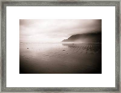 Framed Print featuring the photograph Storm Beach by Craig Perry-Ollila