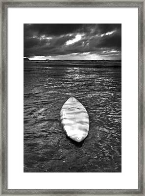 Storm Board Framed Print