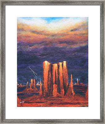 Storm Break 2 Framed Print