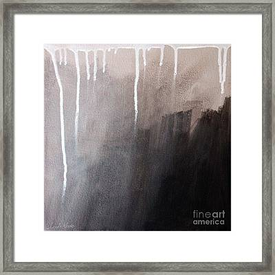 Storm Brewing Framed Print by Linda Woods