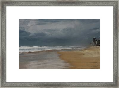 Storm Brewing On The Gold Coast Framed Print