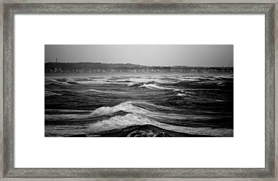 Storm Brewing Framed Print by Sarah Jean Sylvester
