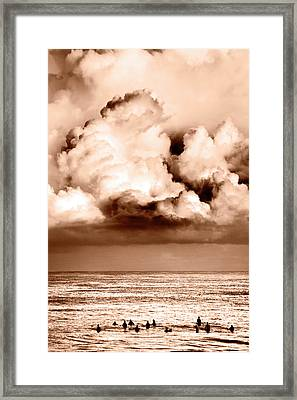 Storm Brewing Framed Print by Sean Davey