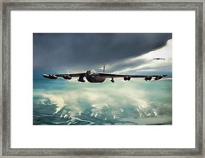 Framed Print featuring the digital art Storm Cell by Peter Chilelli