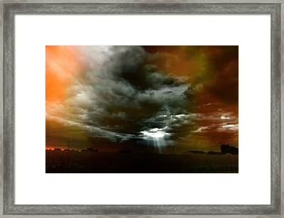 Storm Cell Rural Midwest Framed Print by Thomas Woolworth