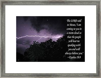 Storm Cloud Framed Print by Robyn Stacey
