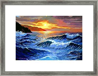 Storm Clouds - Catalina Island Framed Print by David Lloyd Glover