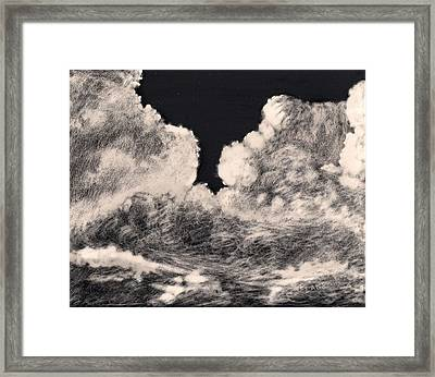 Storm Clouds 1 Framed Print by Elizabeth Lane