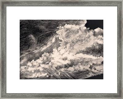 Storm Clouds 2 Framed Print by Elizabeth Lane