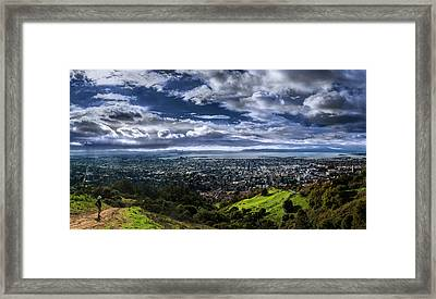 Storm Clouds And Bay Views, Claremont Canyon Regional Preserve Framed Print by Fred Rowe