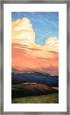 Storm Clouds And Sunsets Framed Print by Erik Schutzman