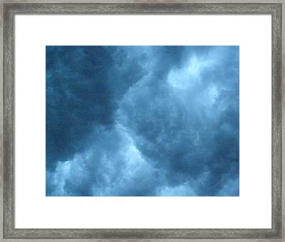 Framed Print featuring the photograph Storm Clouds by Angie Rea