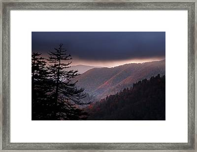 Storm Clouds At Sunrise Framed Print by Andrew Soundarajan
