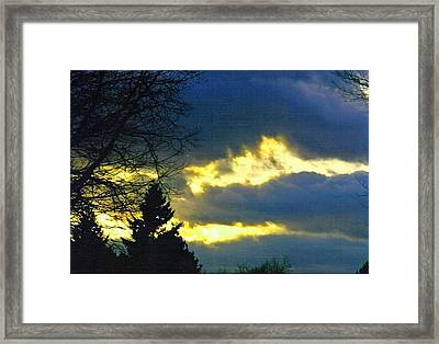 Storm Clouds Framed Print by Gerald Mitchell