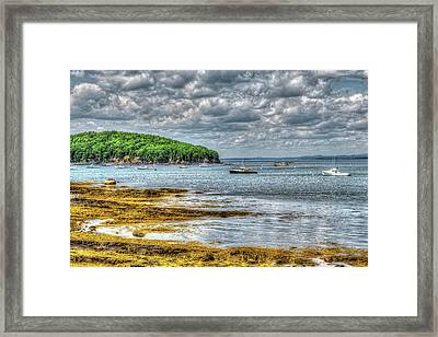 Storm Clouds In Maine Framed Print