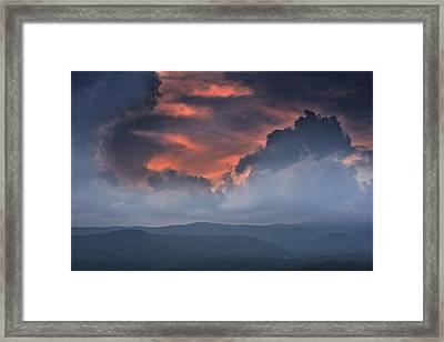 Framed Print featuring the photograph Storm Clouds by Ken Barrett