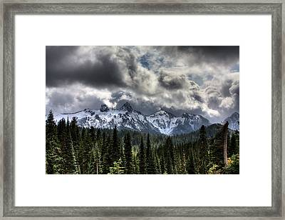 Storm Clouds, Mount Rainier, Pierce Framed Print by Robert Bartow