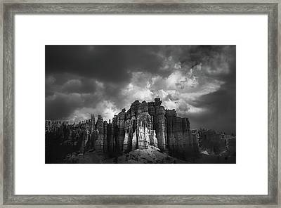Storm Clouds Over Bryce Framed Print