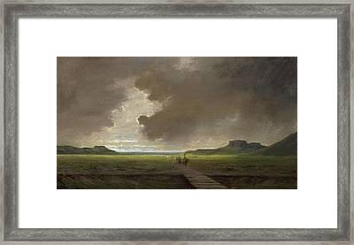 Storm Clouds Over Chicken Rock Framed Print