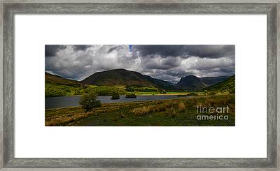 Storm Clouds Over Crummock Water Framed Print by John Collier