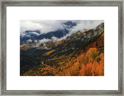 Framed Print featuring the photograph Storm Clouds Over Mcclure Pass During Autumn by Jetson Nguyen