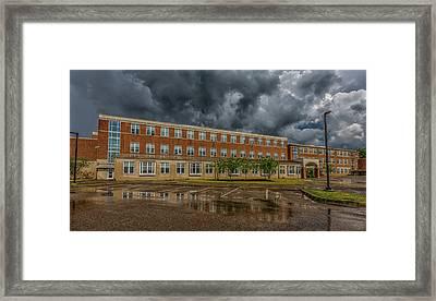 Storm Clouds Over Milton High School Framed Print