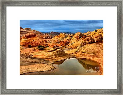 Storm Clouds Over Northern Arizona Framed Print by Adam Jewell