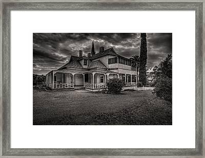 Storm Clouds Over Old House Framed Print