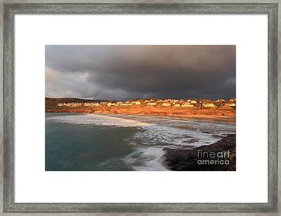 Storm Clouds Over Polzeath Framed Print