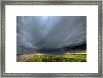Storm Clouds Over Saskatchewan Framed Print by Mark Duffy