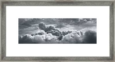 Storm Clouds Over Sheboygan Framed Print by Scott Norris